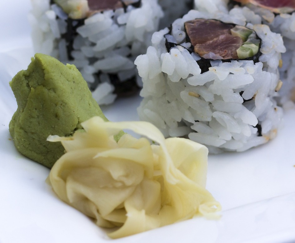 Wasabi and pickled ginger still come with most sushi  Photo: Pixabay
