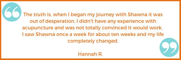 new patient testimonial Hannah R. Shawna Seth, L.Ac. acupuncture San Francisco