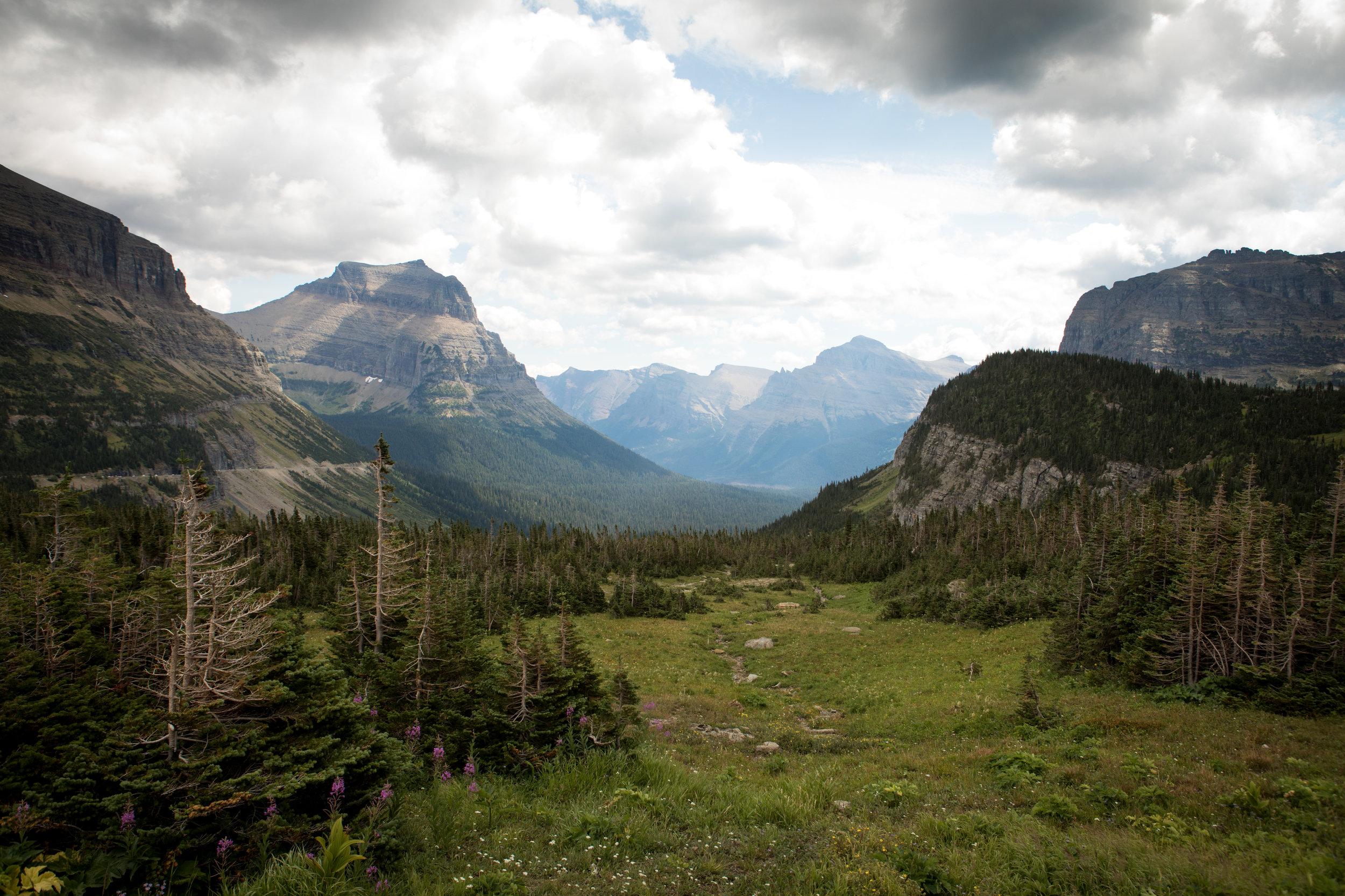 Glacier National Park Leticia Cline shot by Preston Burroughs