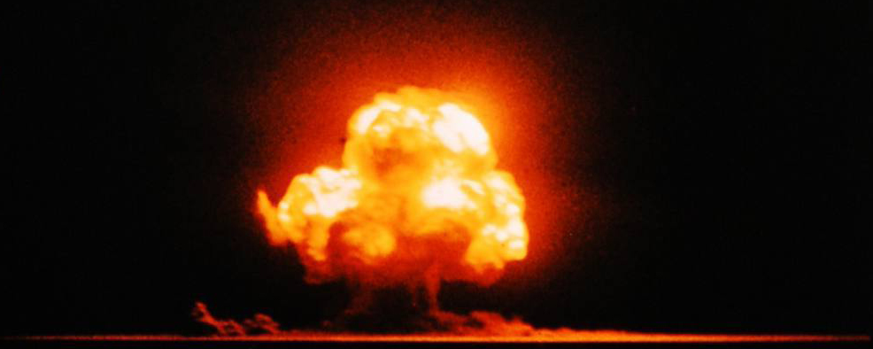 The Trinity nuclear test, July 16, 1945 Photographed by Jack Aeby of the Special Engineering Detachment