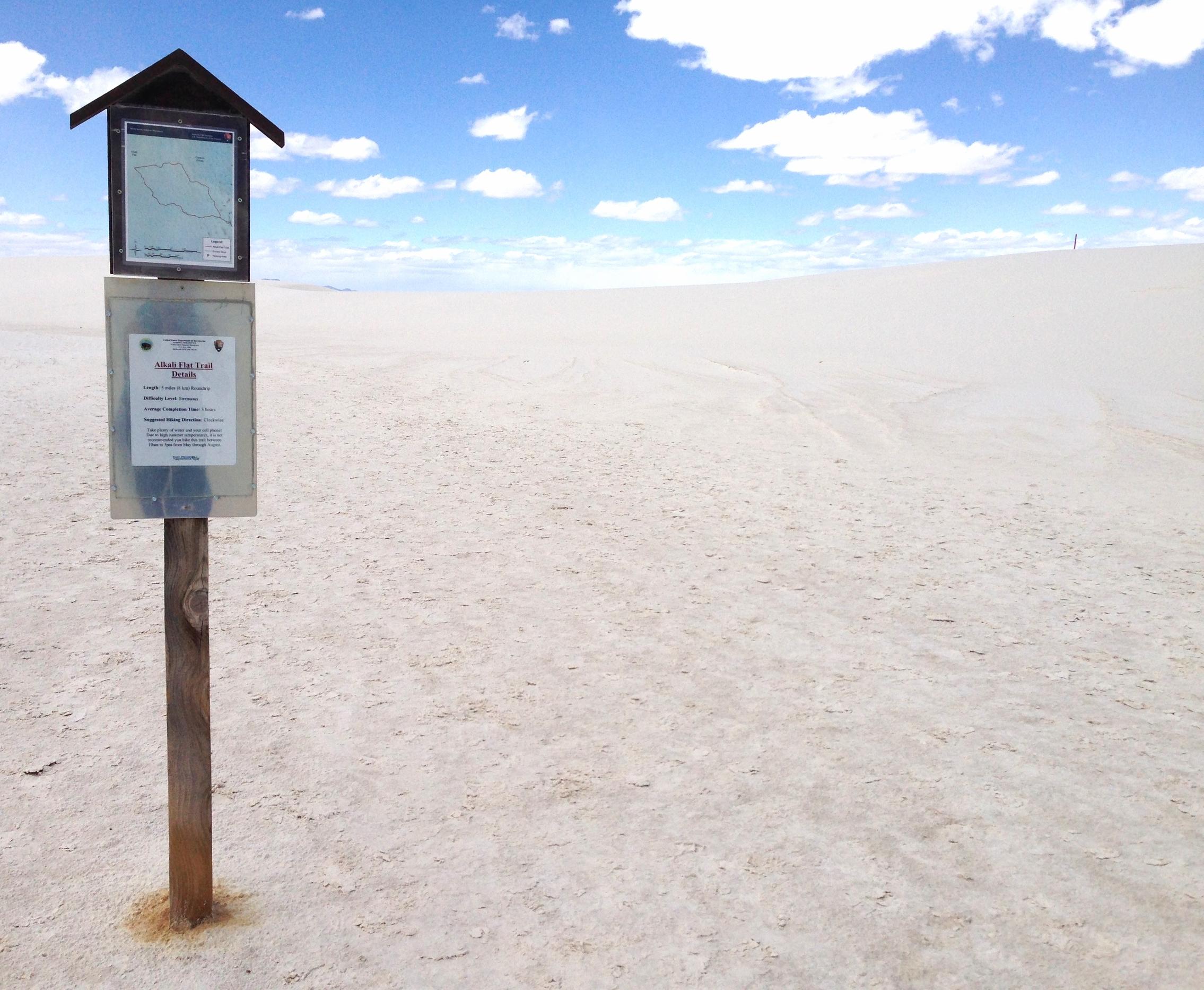 Alkali Flat Trail Sign (Karie Luidens)