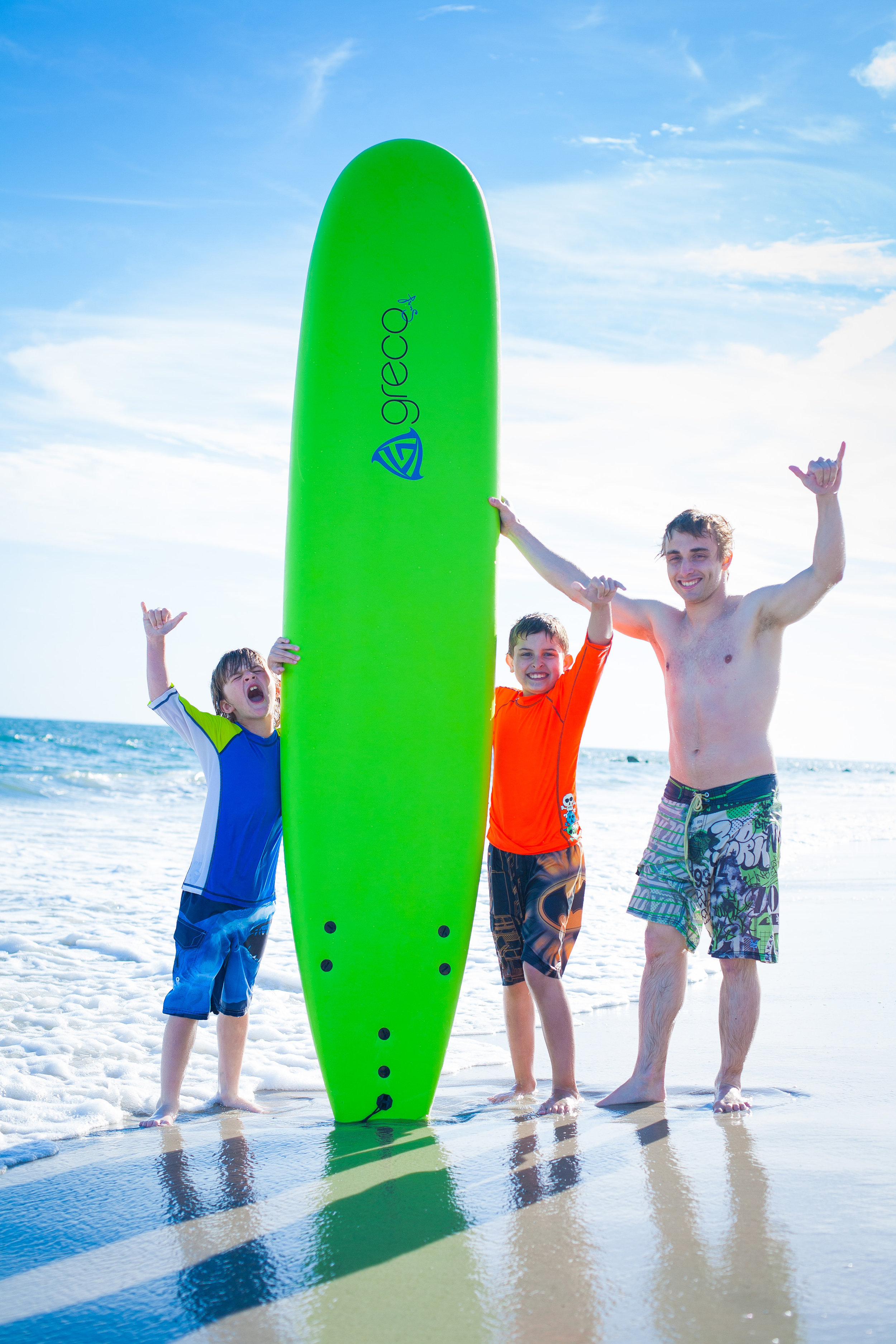 GROUP SURFING LESSONS - FOR GROUPS OF 3 OR MORE PEOPLE,WE OFFER A GROUP RATE OF $45 PER PERSON (1-HOUR) OR $75 PER PERSON (2-HOURS). CALL US AT (516) 996-4100 TO SET UP A GROUP LESSON!