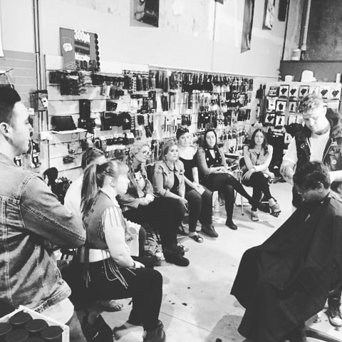 All eyes on @ryanambrosehair whilst he teaches is Barbering Tips and Tricks of the Trade @mynorris Northern Rivers