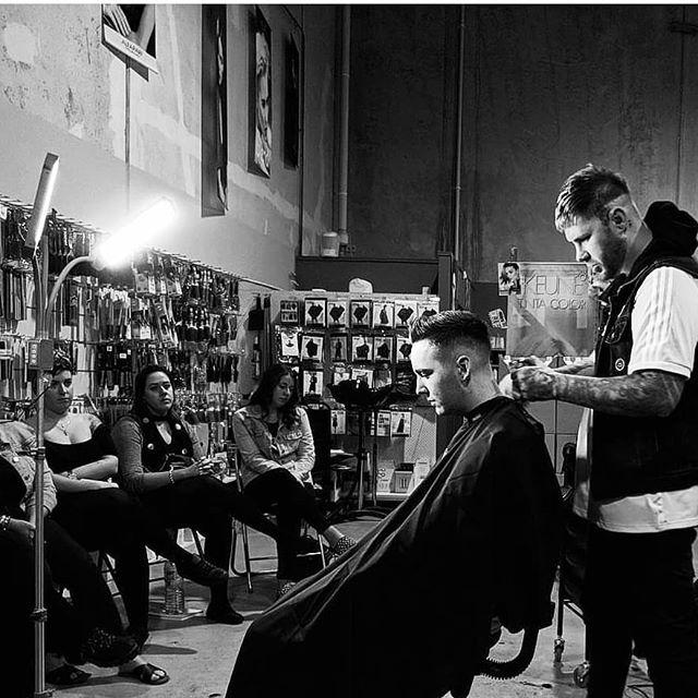Great night of Barbering FUNDAMENTALS with @ryanambrosehair  at @mynorris  #thefuturecreatives #barbering #ryanambrose