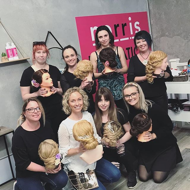 Such a fun bunch of ladies who took part in the Braiding Bootcamp/Upstyles with @hairicome_ at @mynorris Penrith