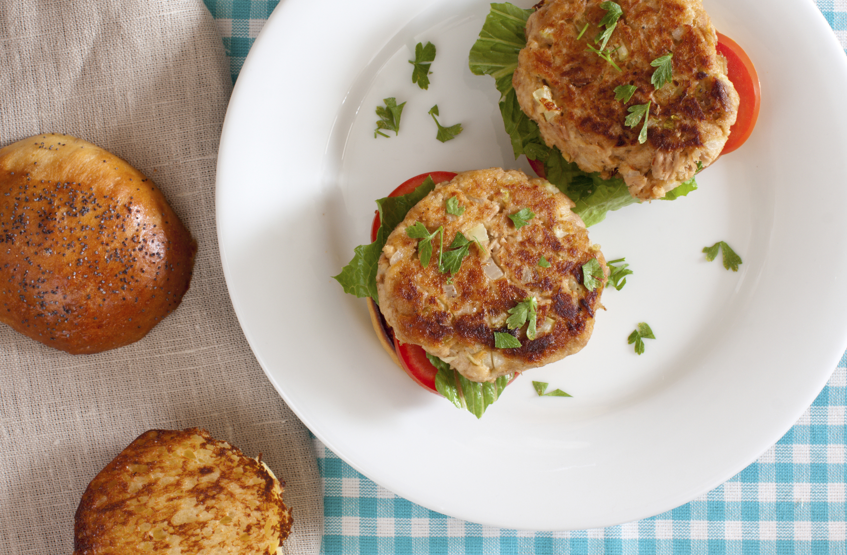 Tuna burgers are packed with protein
