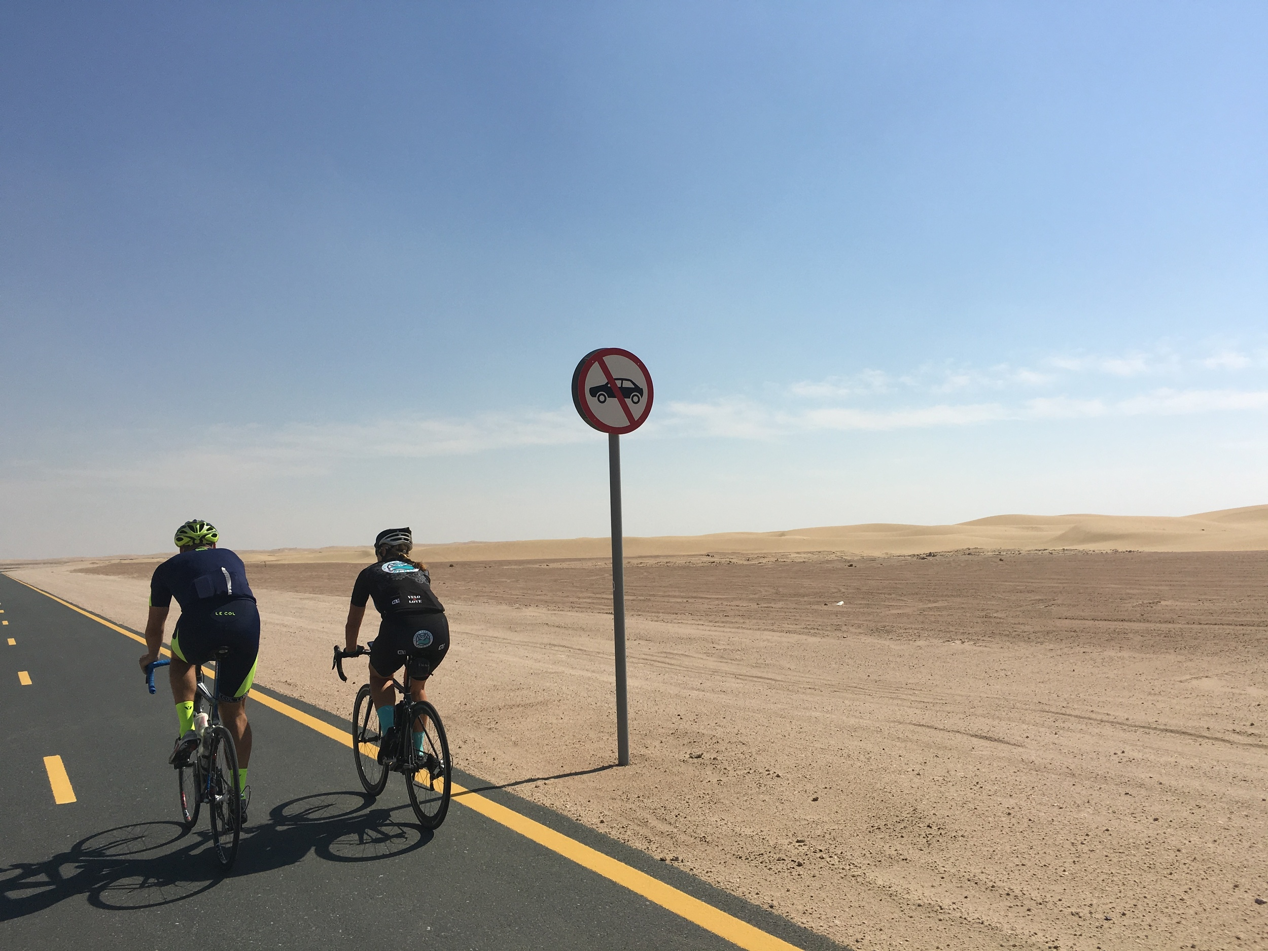 Cars are banned on the cycle track at Al Qudra