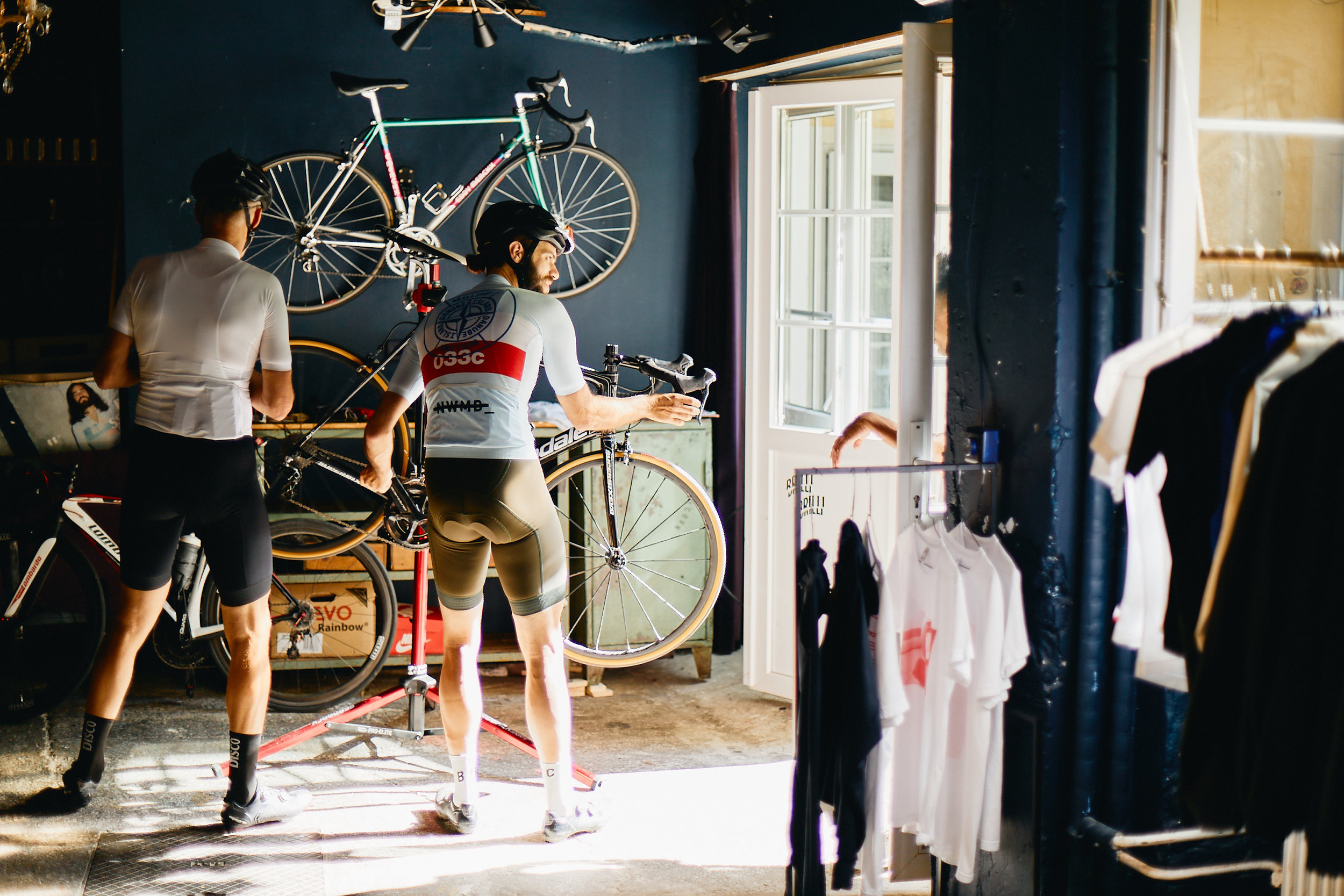 The AM Brillantengrund garage acts as a showroom, events space and mechanic's workshop.