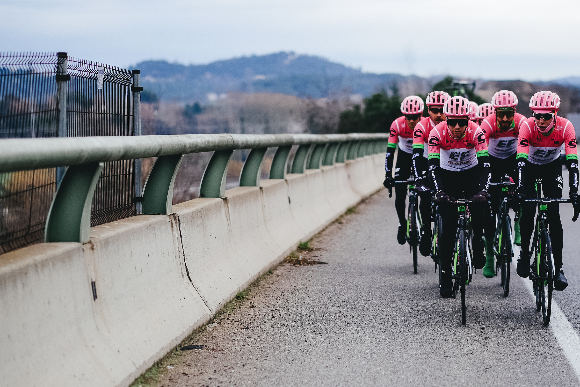 EF Education First on pre-season training camp. Rapha plans to turn riders into minor celebrities.