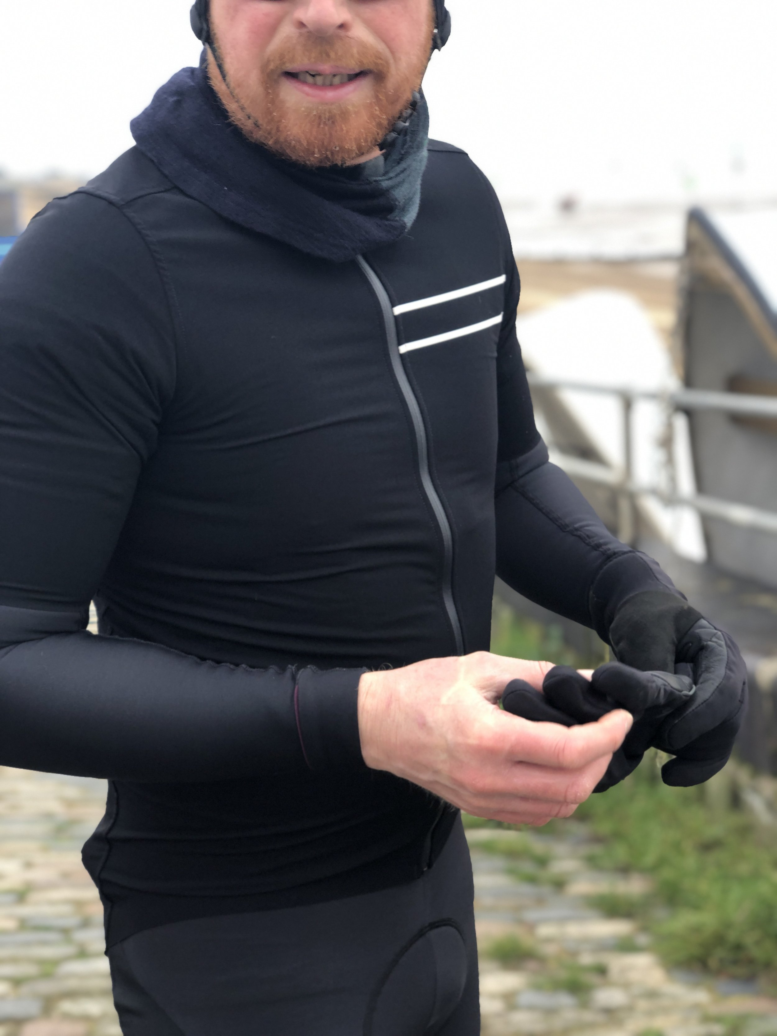 The jersey has a race fit so it's a good idea to size up if you're anything other than a skinny cyclist  Image: Jeremy Johnson