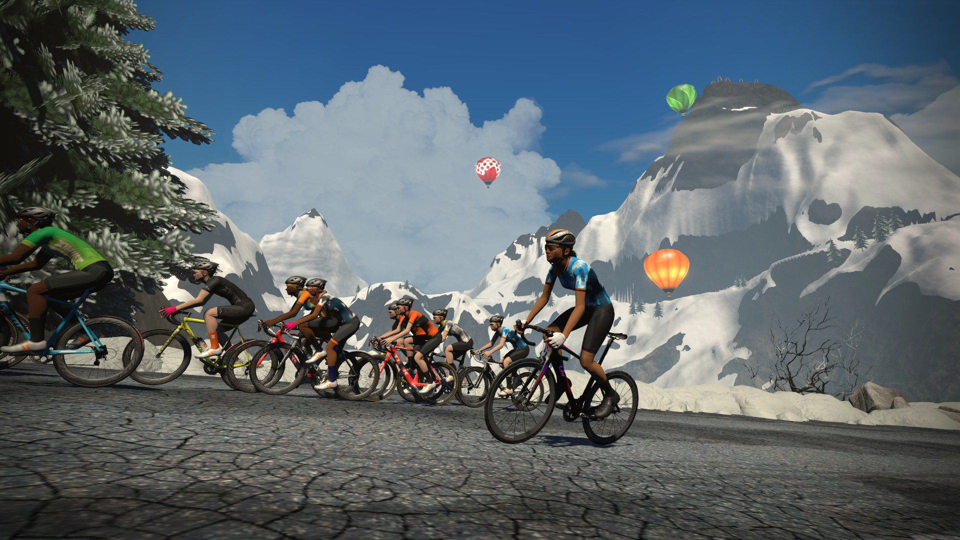 Zwift Mountain does a good job at mimicking the challenge of a real-world climb
