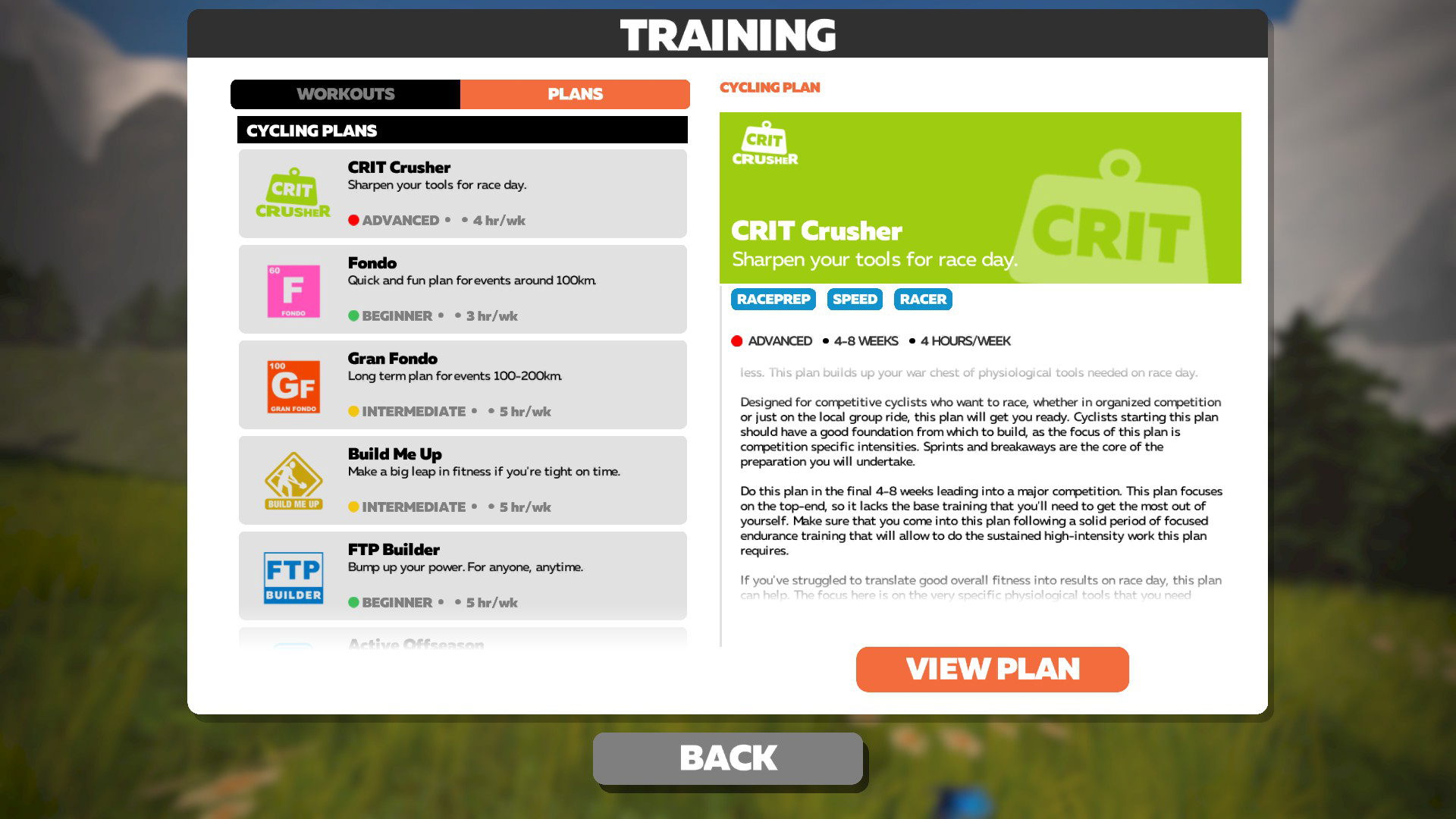Training plans are available for any goal you are working towards