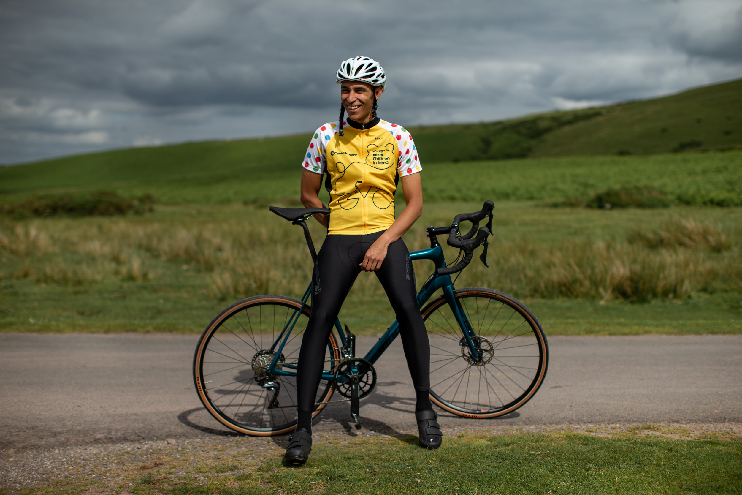 The Cycle Surgery x BBC Children in Need cycle jersey is a real head turner