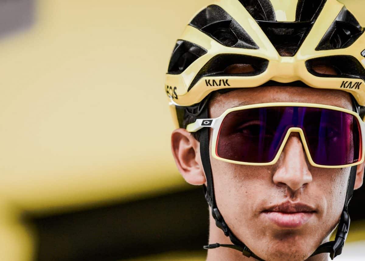 Egan Bernal wore Oakley Sutro throughout the Tour de France   Image: Pauline Ballet / ASO