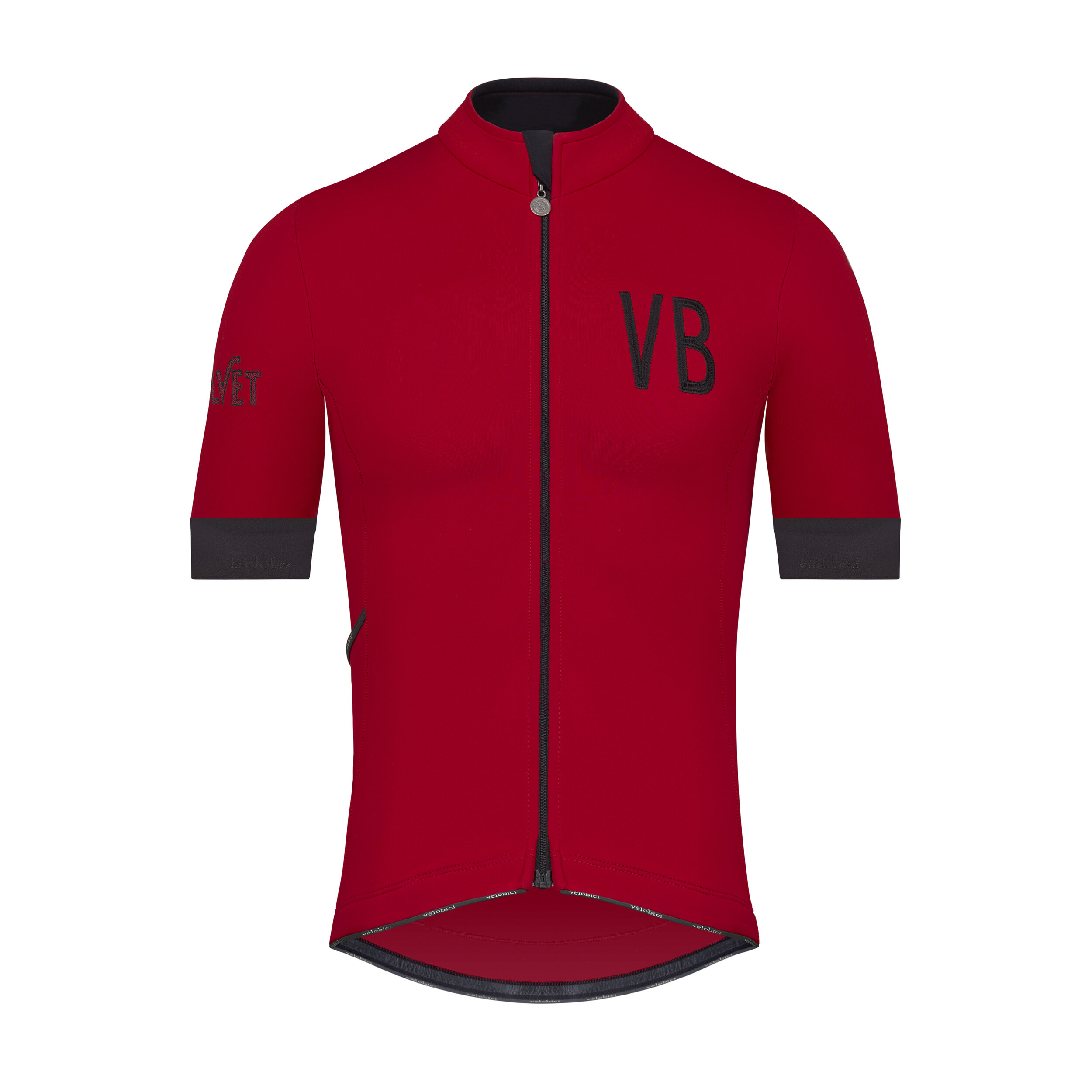 Velobici-Velvet-Red-Thermal-Short-Sleeve-Cycling-Jersey-Front.jpg