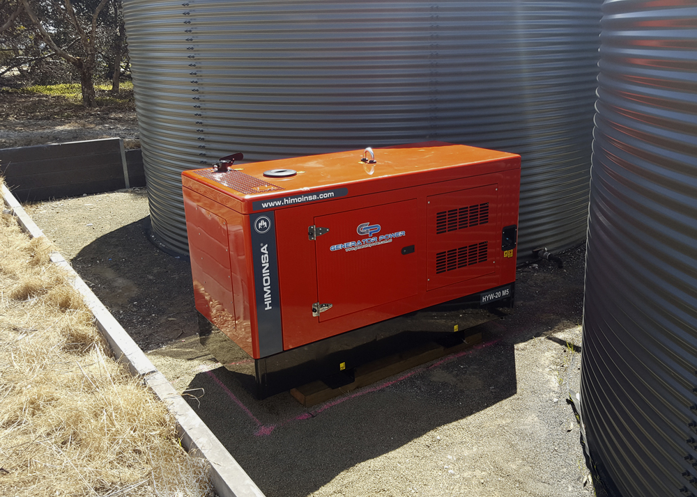 """Kangaroo Island is occasionally subjected to power """"blackout"""", either secondary to power supply issues from the mainland, or to more local faults. In addition to the luxury amenities, our in-house rainwater supply requires electric pump distribution to the beach house. For the peace of mind and comfort of our guests, our new 17.2 kVa generator automatically switches in during a power outage, enabling full use of all facilities."""