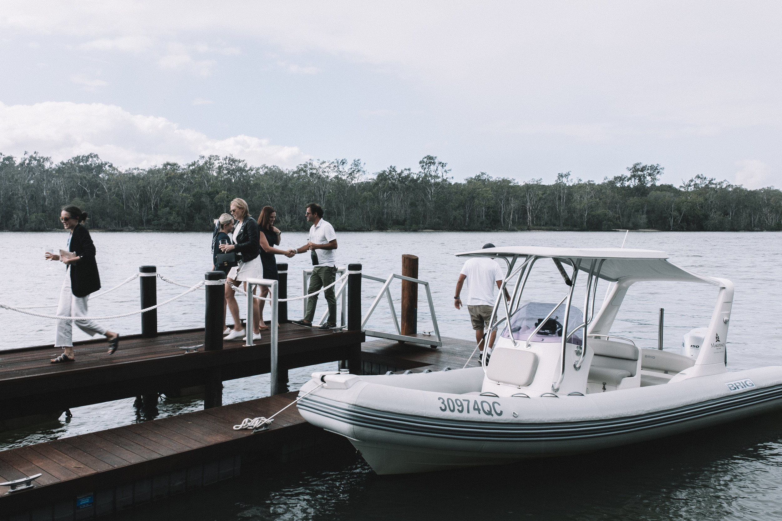 Arriving at the secret location along Noosa River