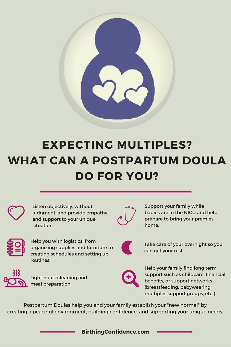 What can a Postpartum Doula do for you when you're expecting multiples?