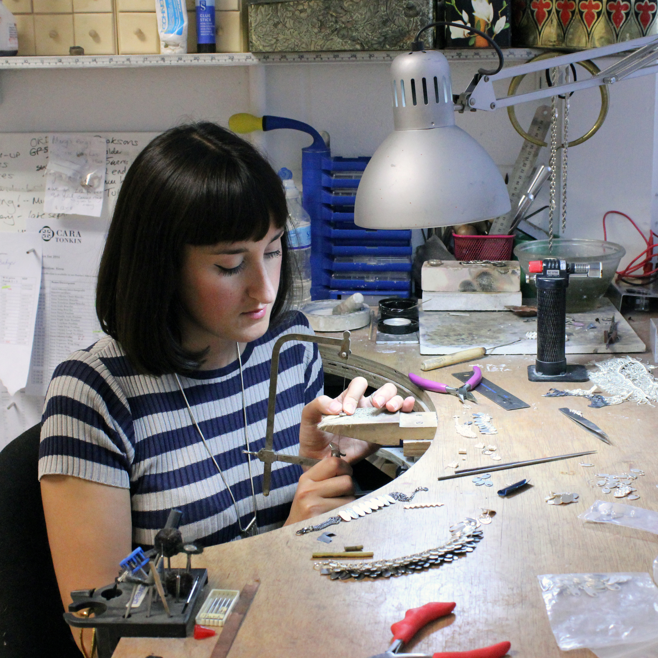 Cara Tonkin in her Brighton Studio where everything is made