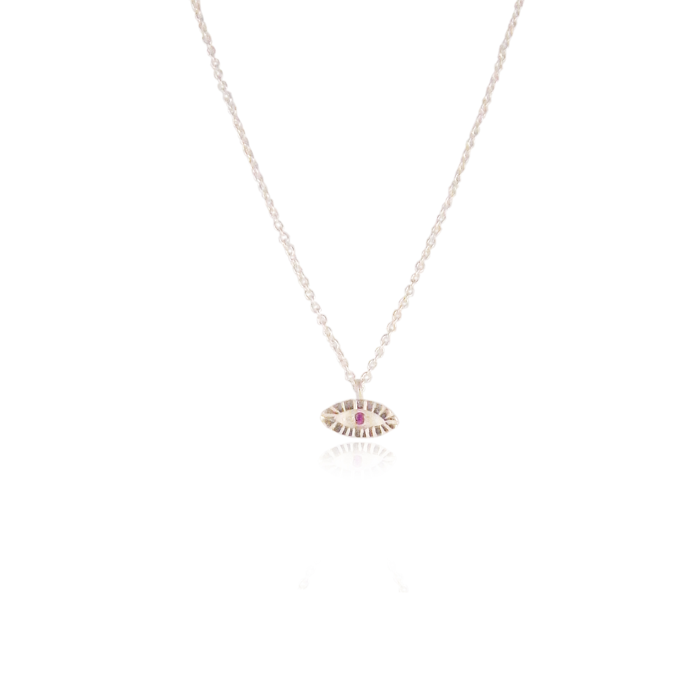 Momocreatura tiny ruby necklace silver.jpg