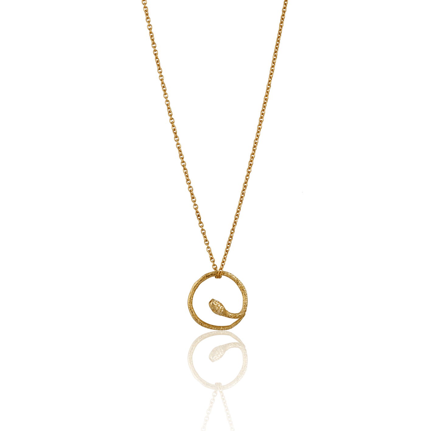 Momocreatura gold round snake necklace.jpg