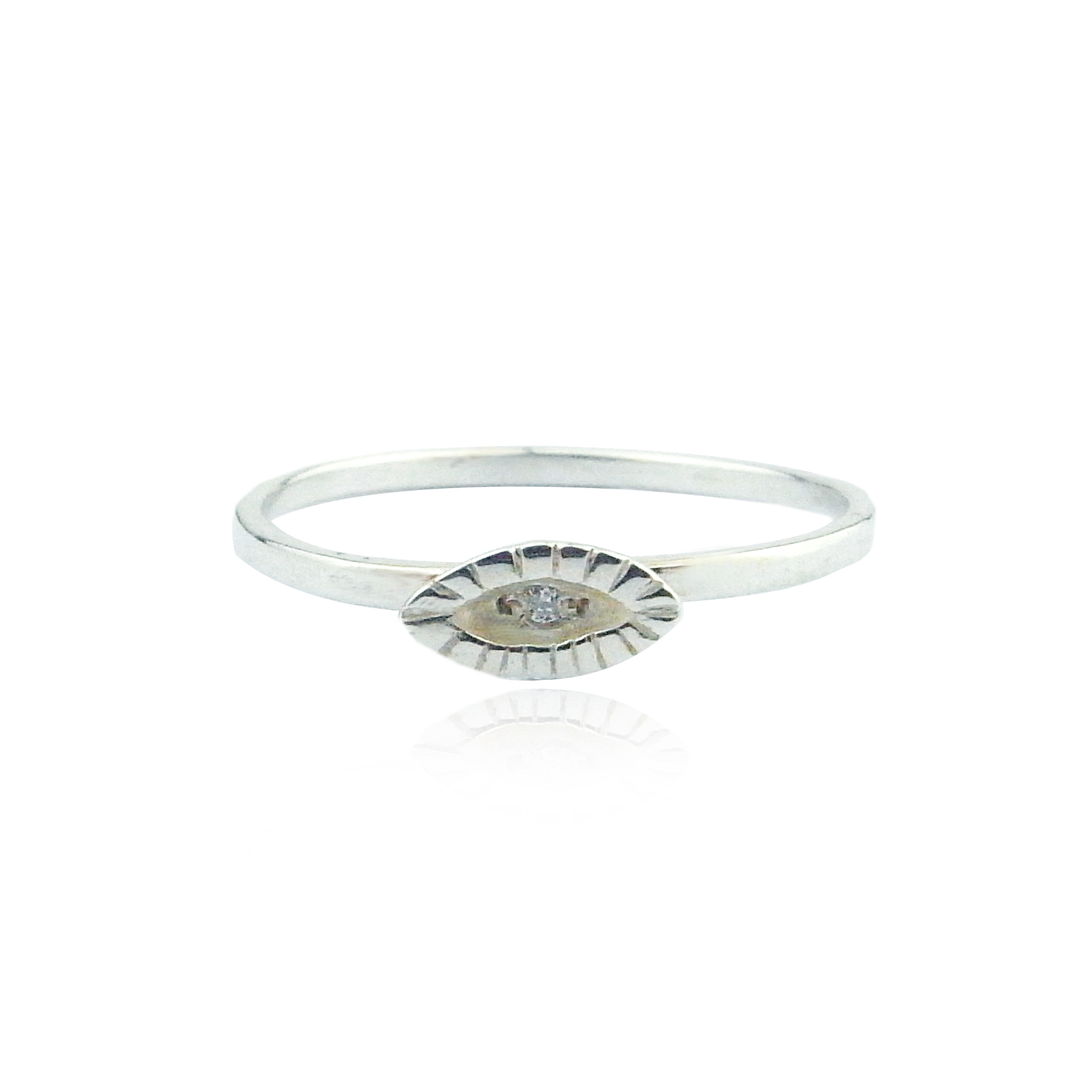 Momocraetura tiny eye diamond ring silver.jpg
