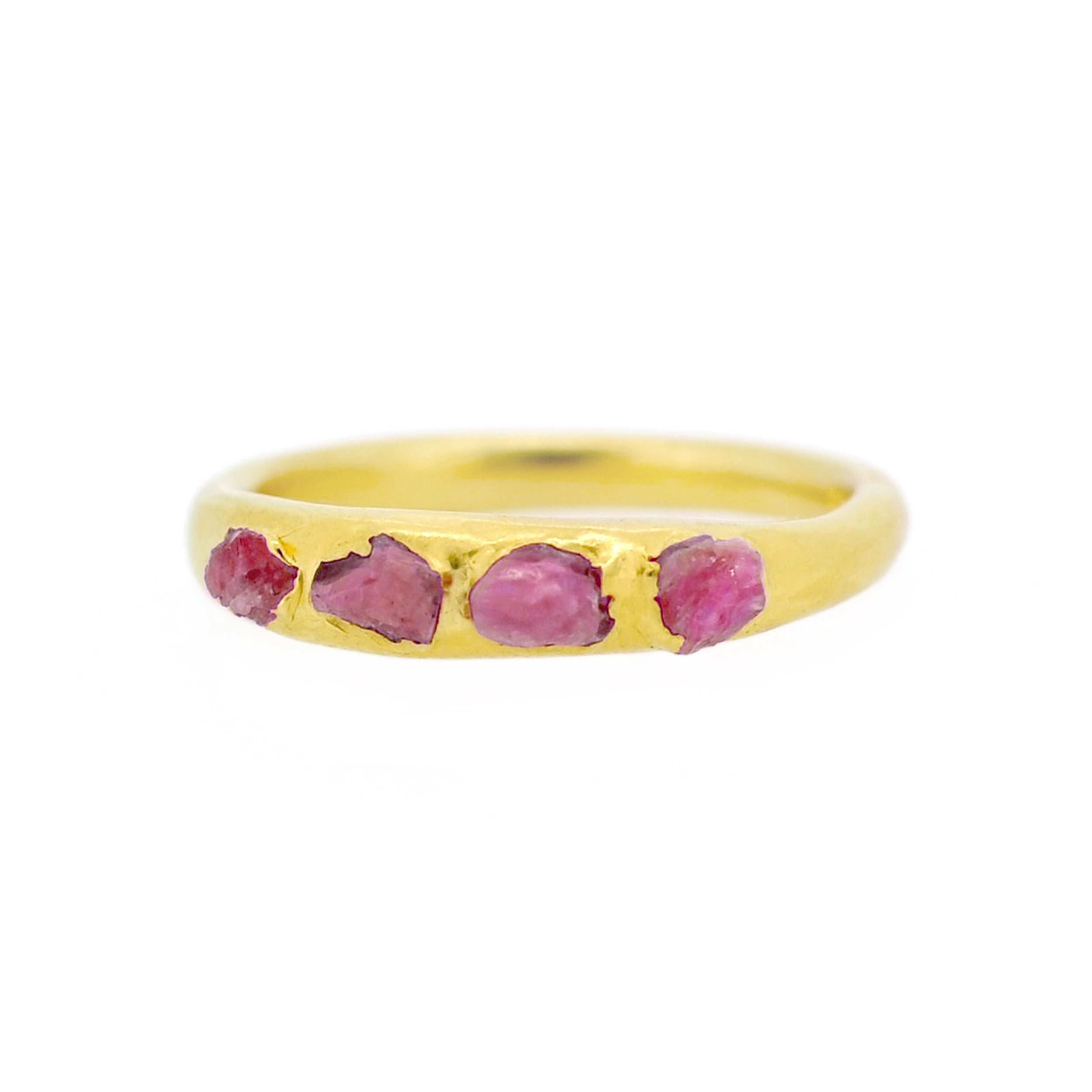 5. Mabel Hasell - Gold plated ruby crystal ring.jpg