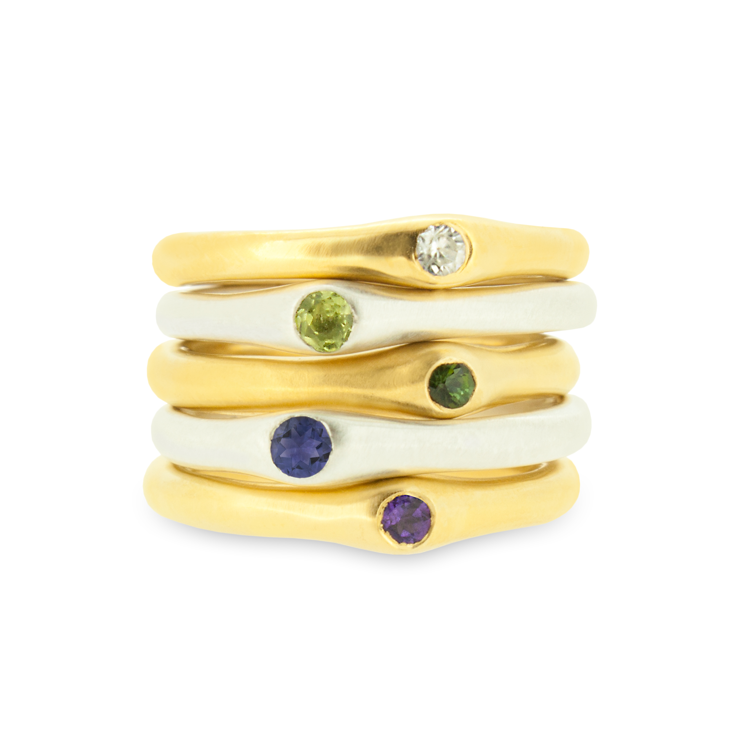 3. Mabel Hasell - Silver and gold plated stack rings.jpg