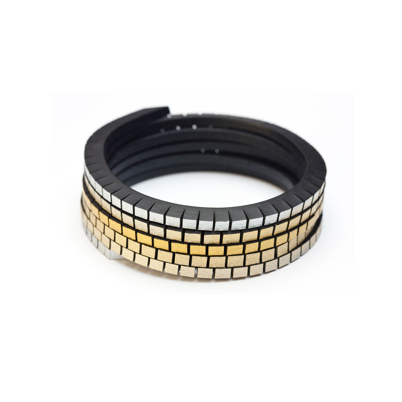 tania clarke hall Wound Up Slim Bracelet - Black & Gold-Silver.jpg