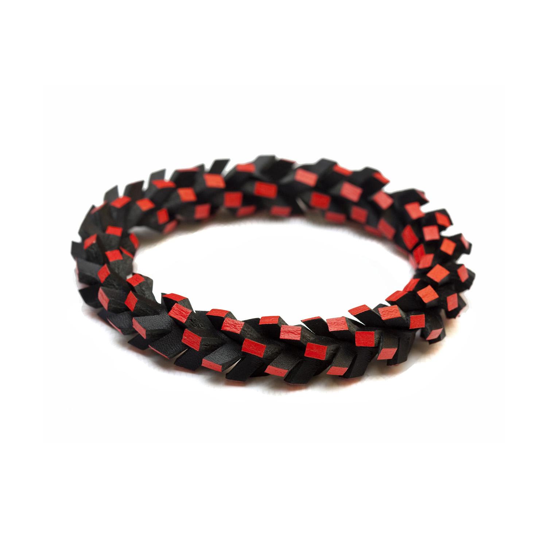tania clarke hall In A Twist Bracelet Black & Red.jpg