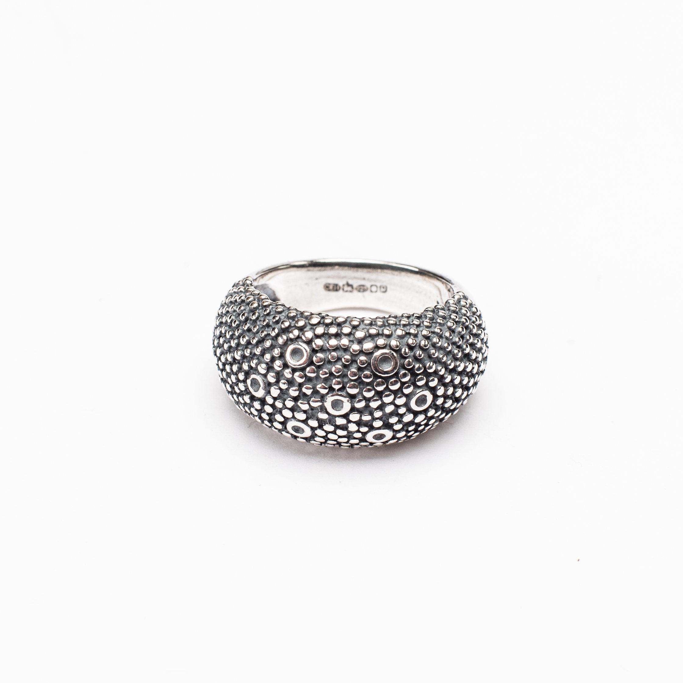 Catherine Hills Jewellery. Bubble Ring - Oxidised Silver  .jpg