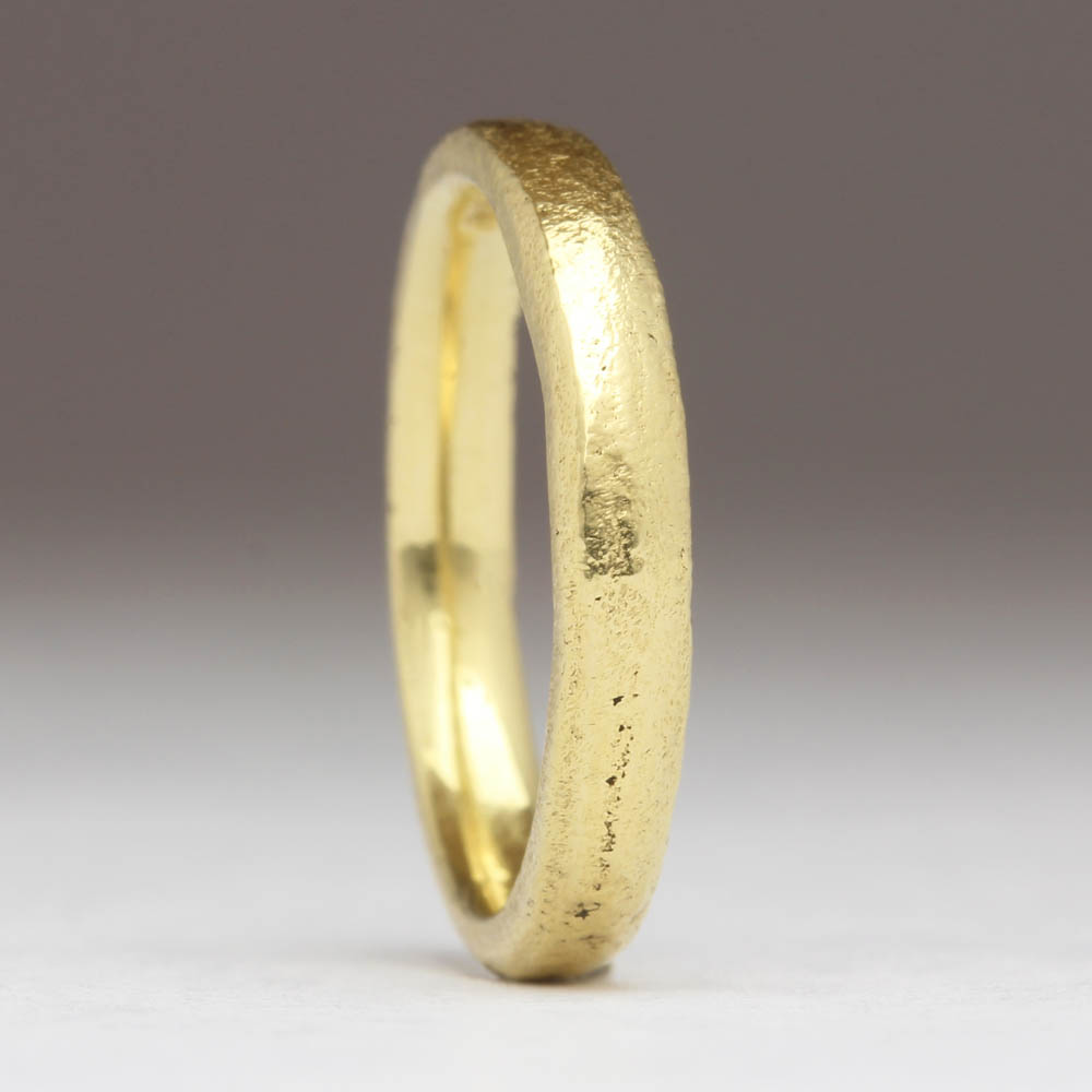 justin duance SC-CM 3mm 18Y - Yellow Gold Sandcast Ring (2).JPG