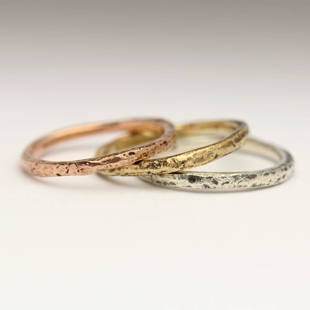 Justin Duance Sandcast Stacking 9ct Gold Rings (5).JPG