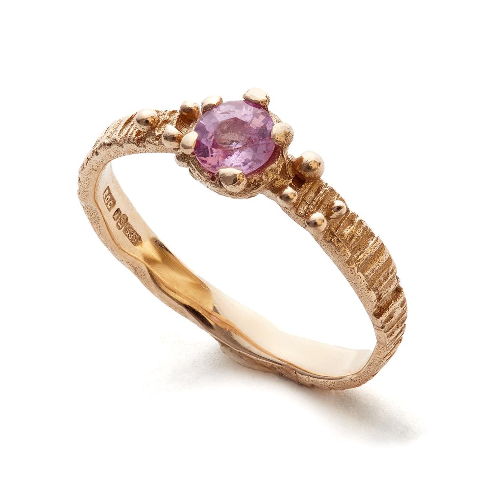 sunbark ring 14k rose gold pink sapphire eily oconnell.jpg