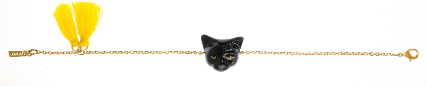 nach bijoux  D066 Black Cat pompom bracelet.jpg