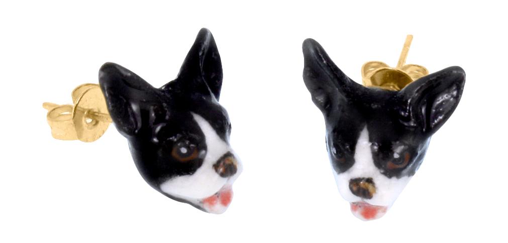 nach bijoux  J075 Mini French Bulldog Head Earrings.jpg
