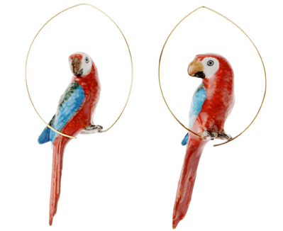 nach bijoux  J047 Red Macau Bird Creoles.jpg