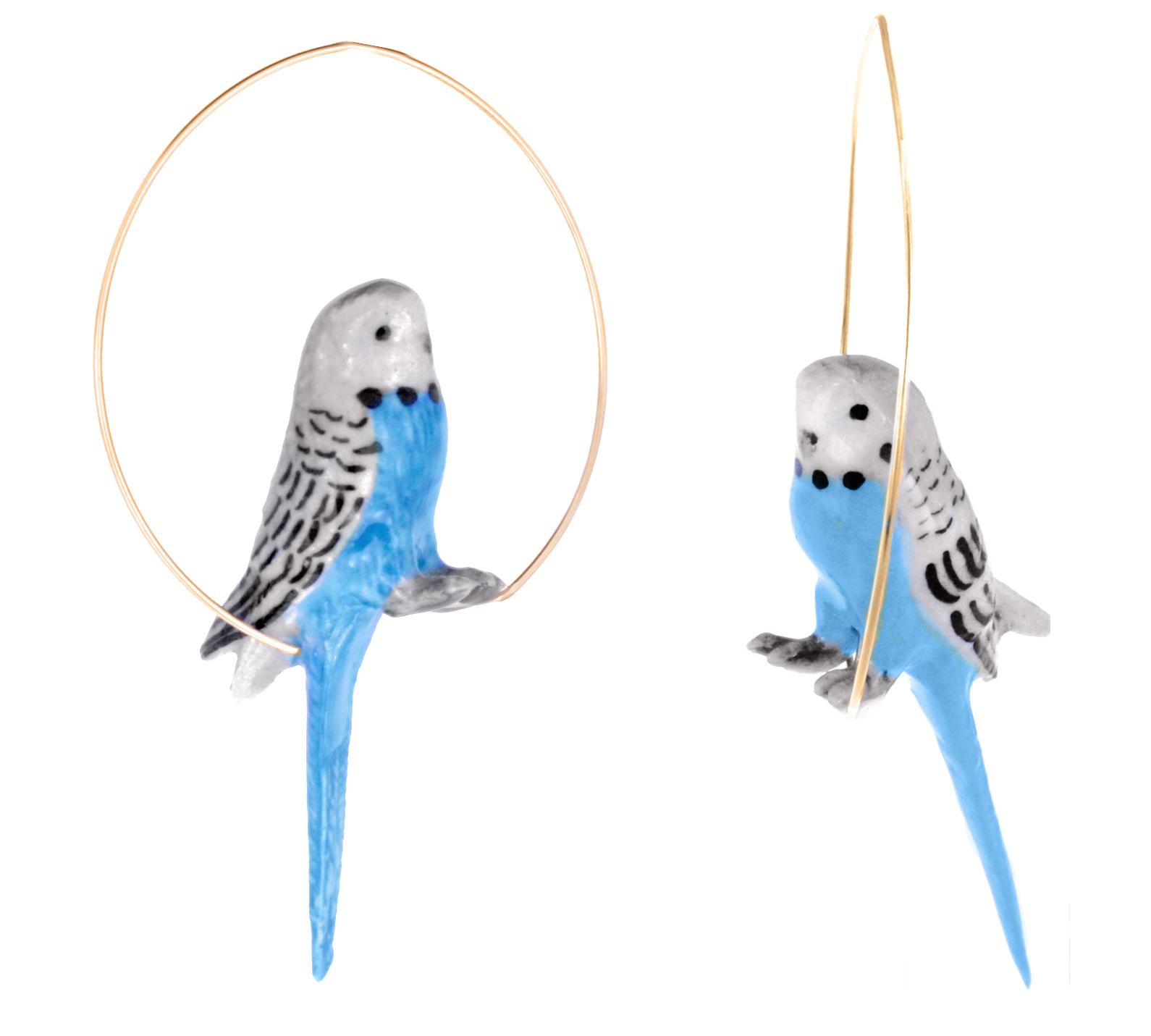 nach bijoux  J086 Blue Budgerigard Bird.jpg