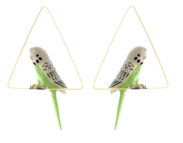 nach bijoux  J121 Green Bird Triangle Creoles.jpg