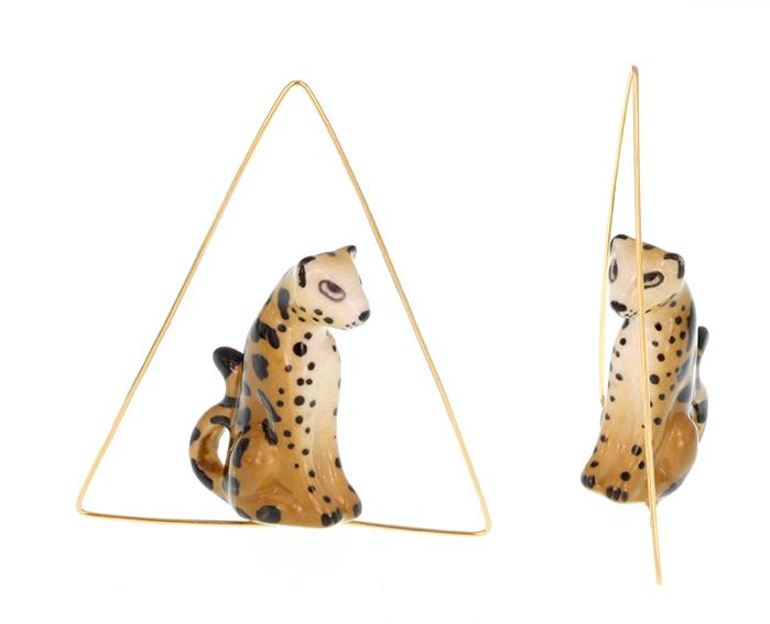 nach bijoux J125 Leopard Triangle Earrings.jpg