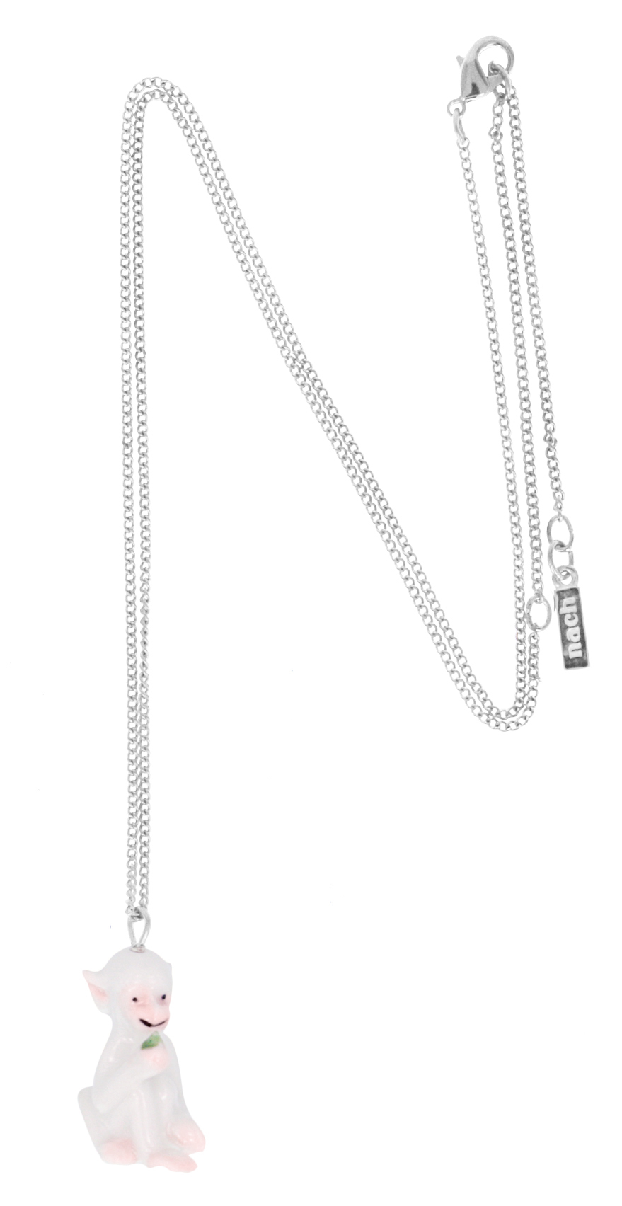 nach bijoux  U061S White Monkey mini necklace.jpg