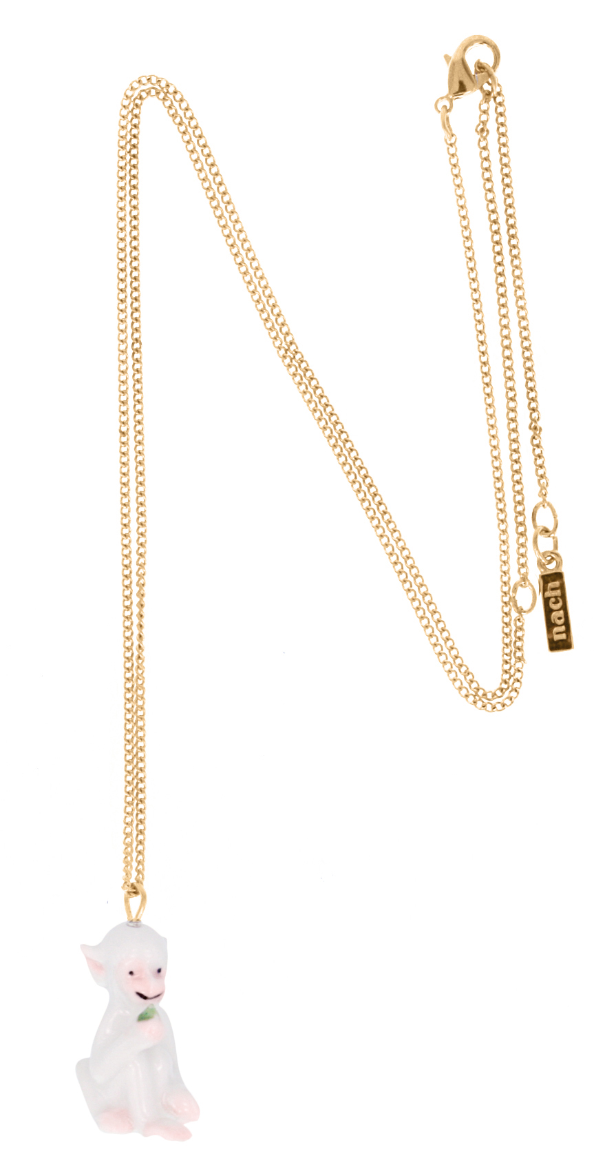 nach bijoux  U061G White Monkey mini necklace.jpg