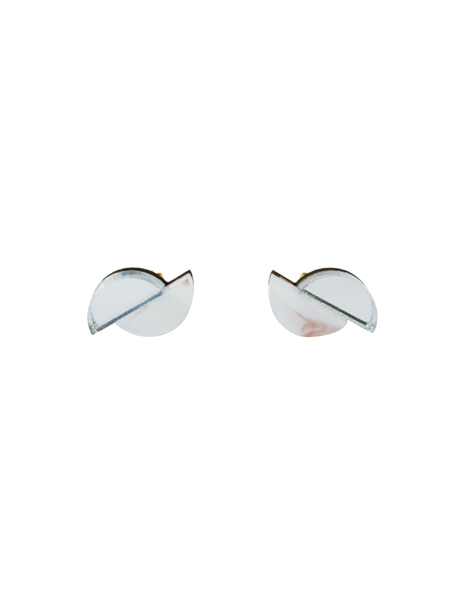 Wolf & Moon Split Circle Studs Raspberry Ripple_Silver.jpg