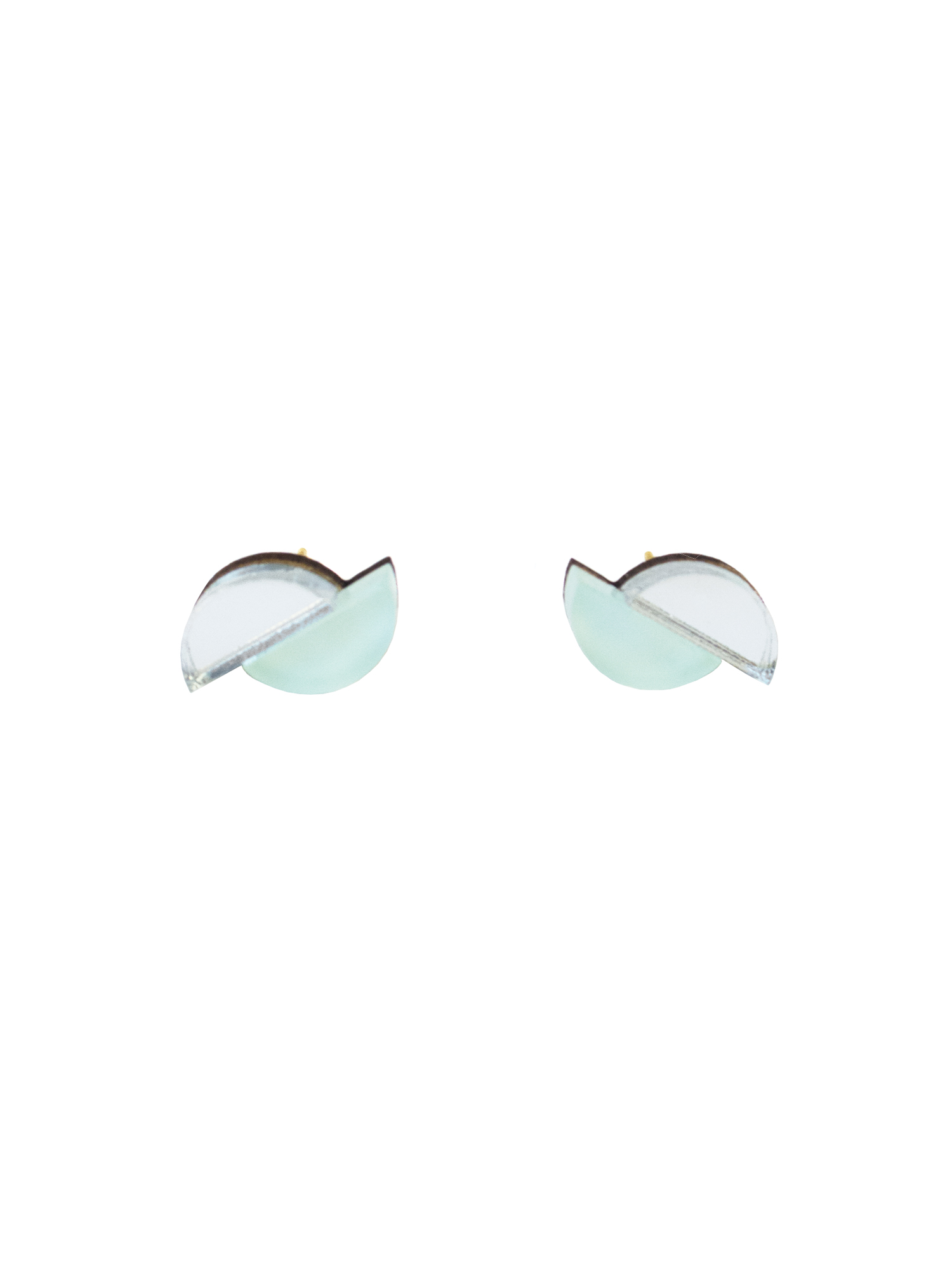 Wolf & Moon Split Circle Studs Mint_Silver.jpg