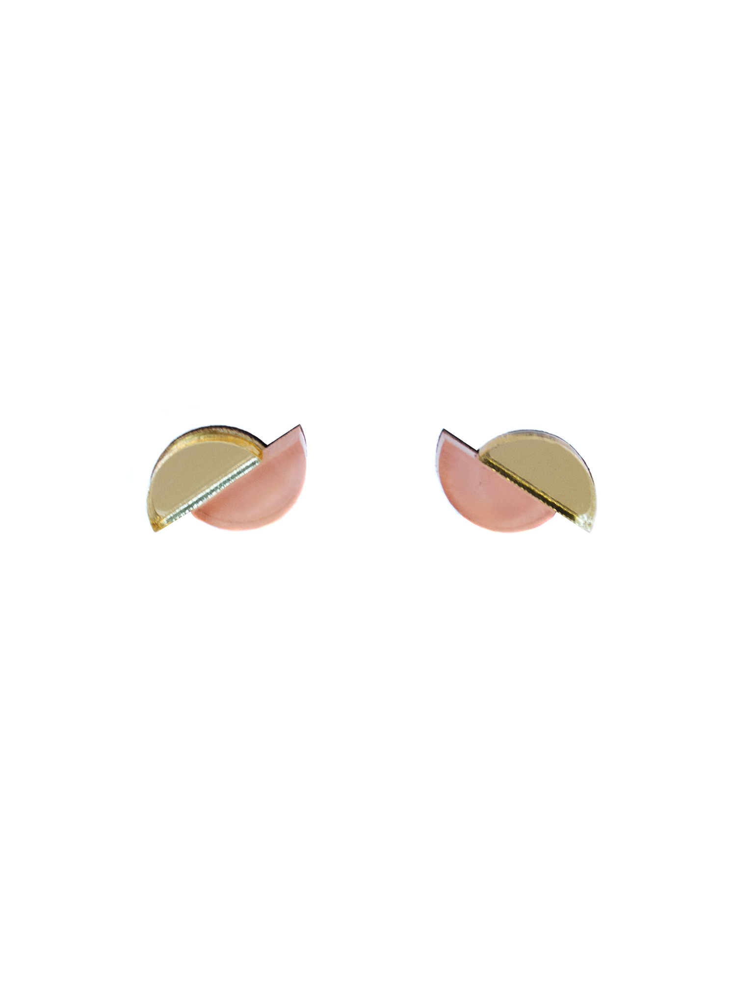 Wolf & Moon Split Circle Studs Apricot_Gold.jpg