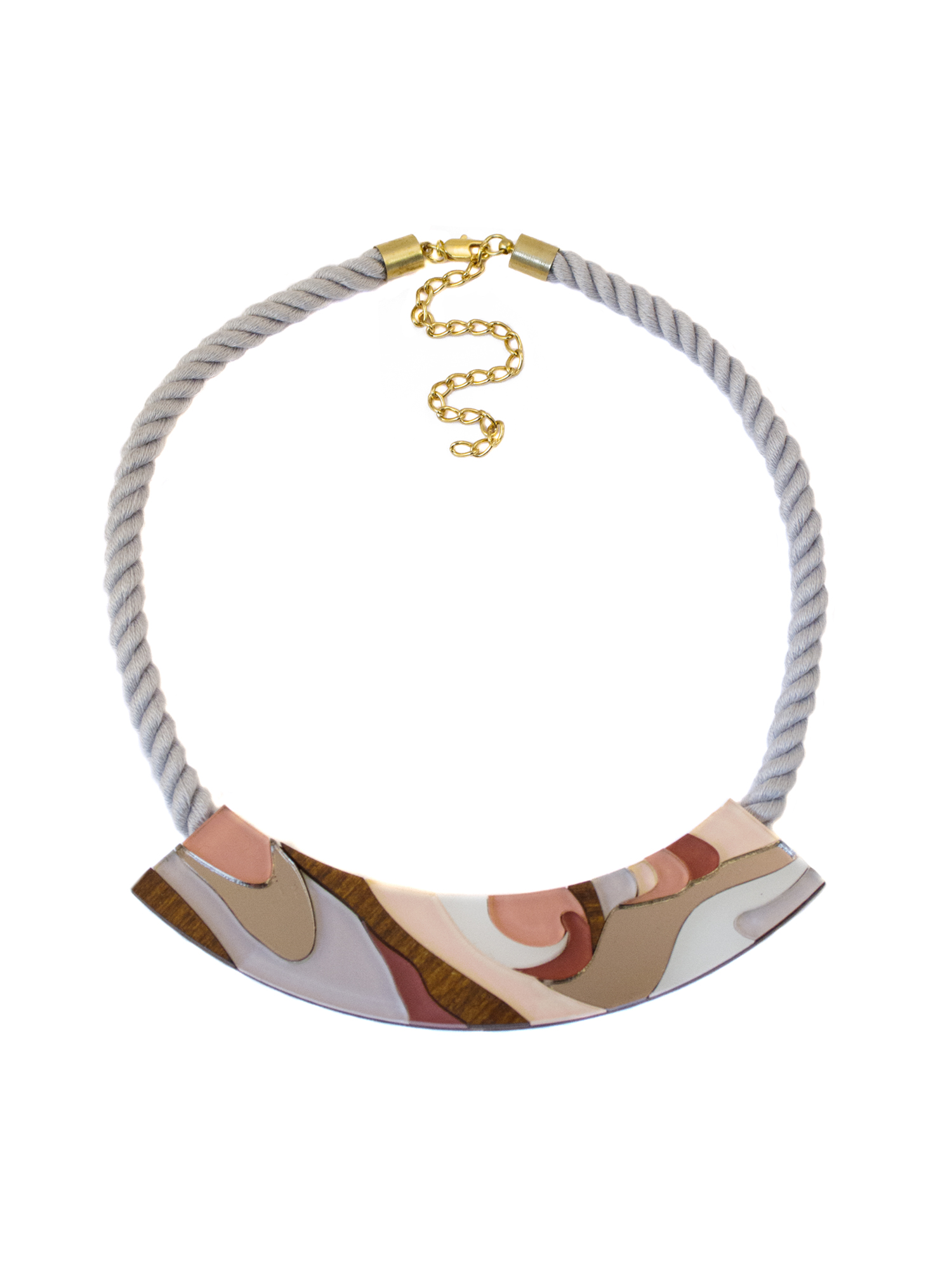 Wolf & Moon Marble Rope Necklace Apricot.jpg