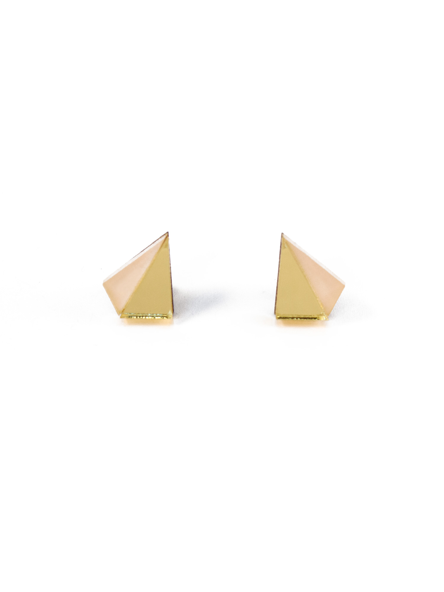 Wolf & Moon Little Pyramid Studs Gold_Peach.jpg