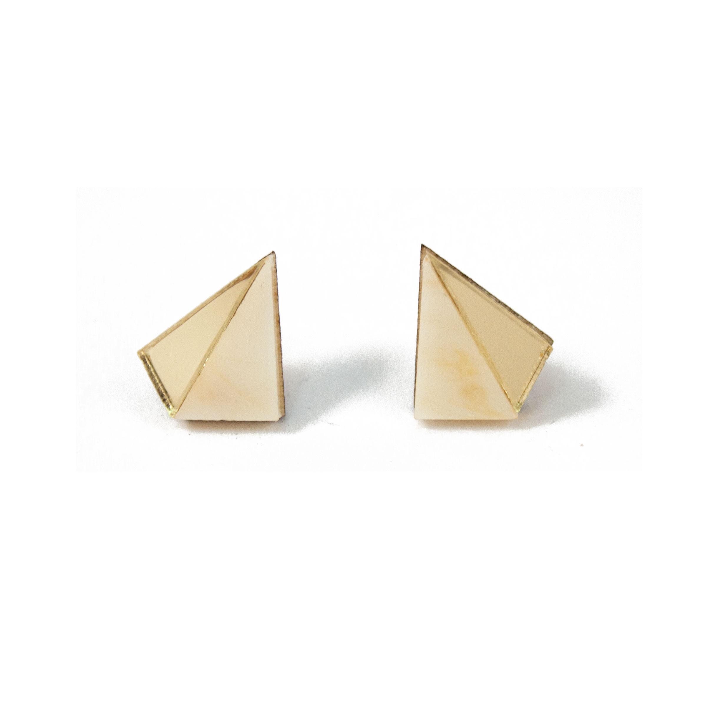 Wolf & Moon Little Pyramid Studs Cream_Gold.jpg