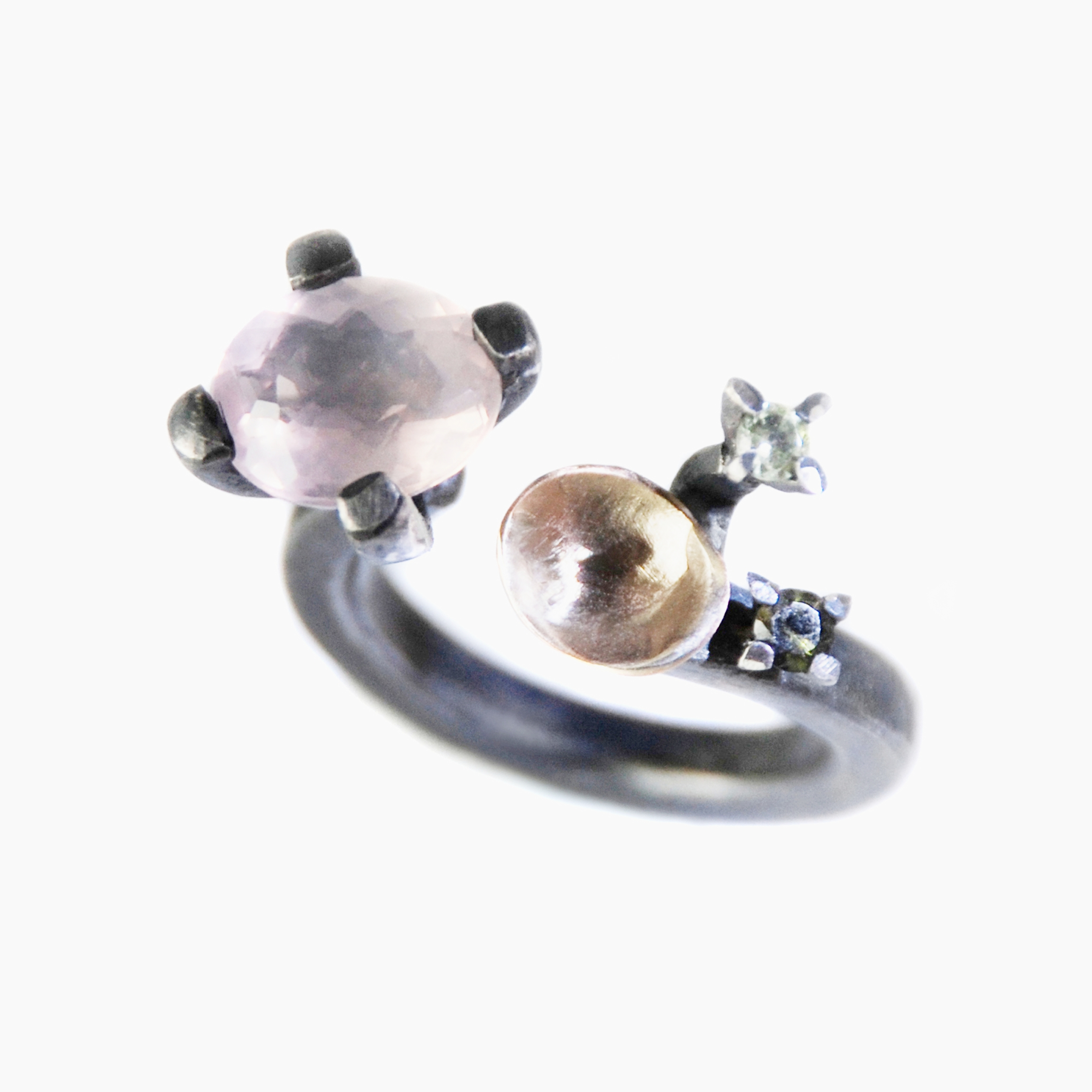 Silvia Piva ring a218 kioto_ag+au+rodio+precious stones.jpg