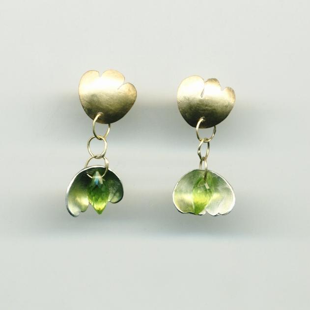 Silvia Piva earrings 184 mini ginko_ag+au+peridoto.jpg